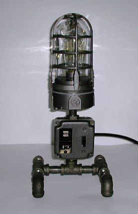 Industrial Chic - Steampunk - Nautical Lamp with USB charger