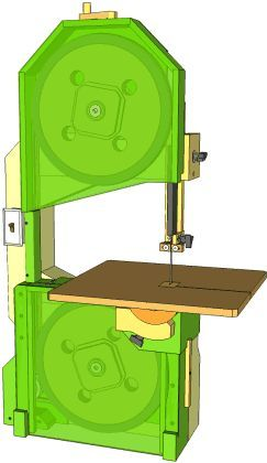 """Very comprehensive plans for making your own 16"""" bandsaw,  $21."""