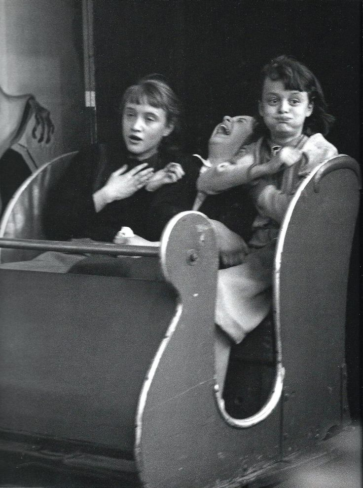 "mimbeau: ""The ghost train"" 1953 Robert Doisneau Me . in the middle ."