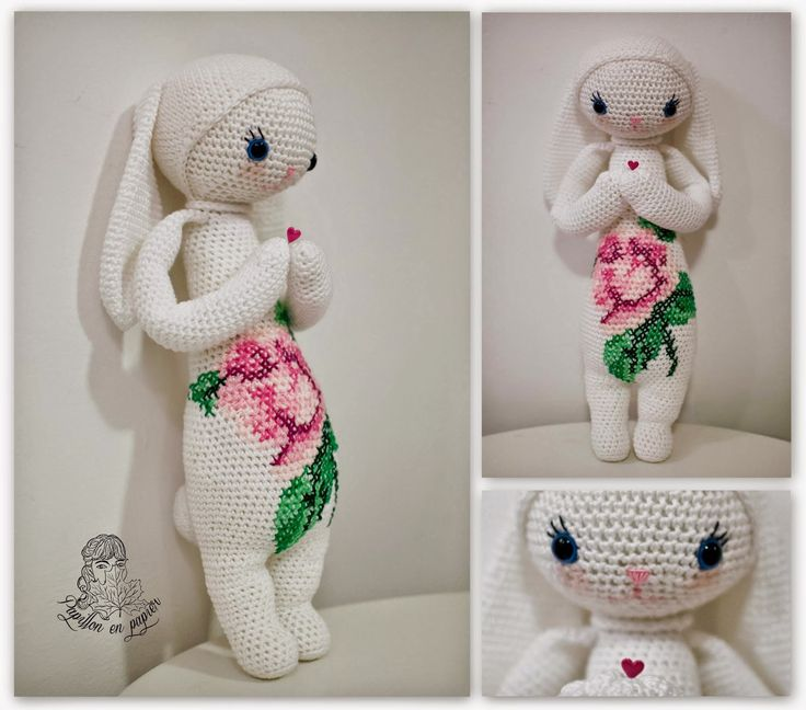 Papillon en papier: Rita the bunny- Lalylala doll making