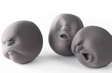 clay ball faces