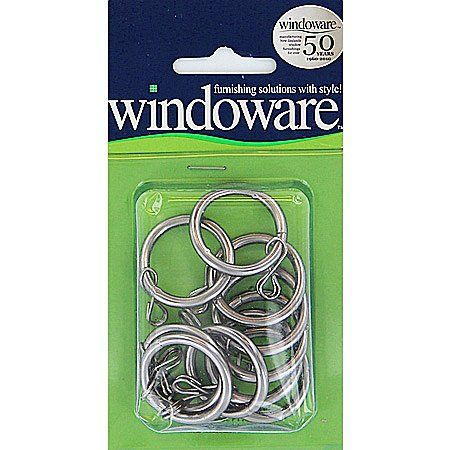 Windoware Satin Chrome Rings 10 Pack