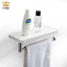 Crw baño ducha estante con barra de toalla blanca o el inodoro Titular de ABS + Acero Inoxidable para Baño de Ducha del Hotel ASC03(China (Mainland))