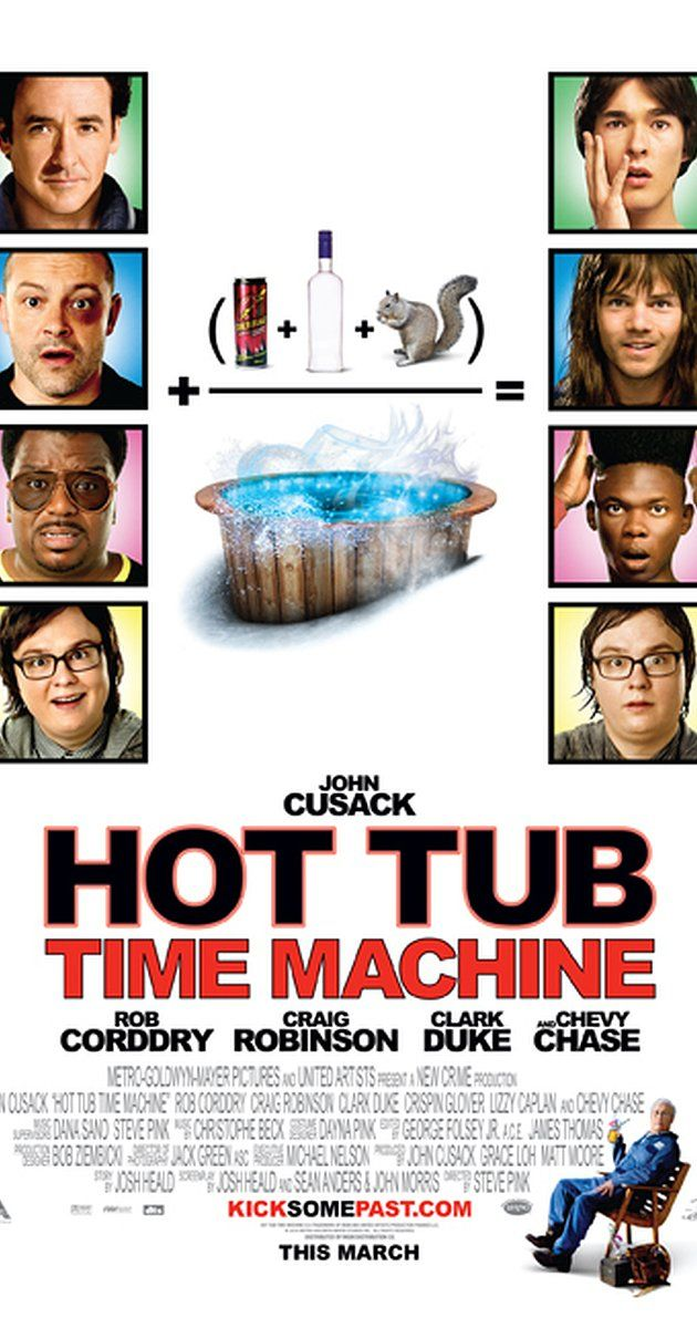 Hot Tub Time Machine (2010) USA MGM / United Artists Comedy fantasy John Cusack (+co-prod), Rob Corddry, Craig Robinson, Chevy Chase, Crispin Glover, Lizzy Caplan. (3/10) 30/08/16