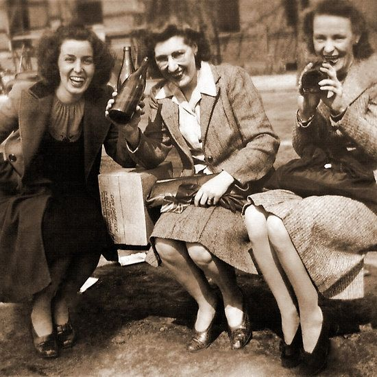 Women drinking Stolen Olands's Export Ale during the Halifax Riots in Canada