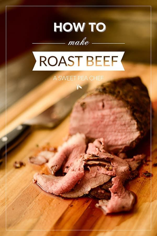 (Omit oil) This primer covers everything -- what kinds of roasts to buy, how to cook it and how to slice it -- for juicy, tender roast beef perfection.