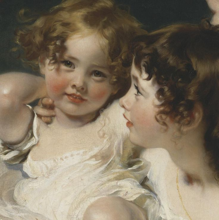The Calmady Children - a close up - by Sir Thomas Lawrence, 1823. Another look - they always made me happy. Both led long lives, and here Lawrence captures a vitality and excitement about the life that awaits. I can read in class things, sure, but what about joy of life? It's what this painting is about.