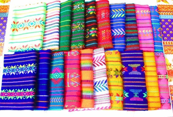 Aztec fabric Mexican Fabric Bundle tribal by MexFabricSupplies
