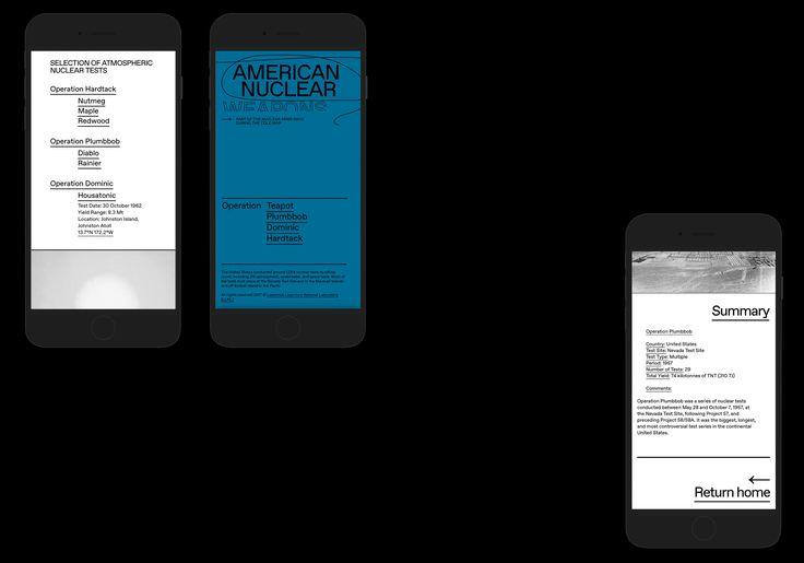 Homepage, American nuclear testing between 1945 & 1962
