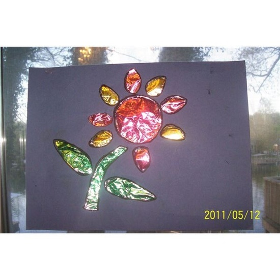 Stained glass spring art project for preschool several for Glass art projects