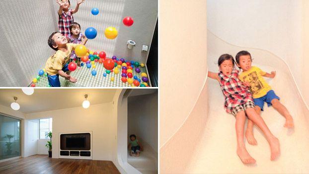 Casa moderna a Tokyo con scivolo all'interno