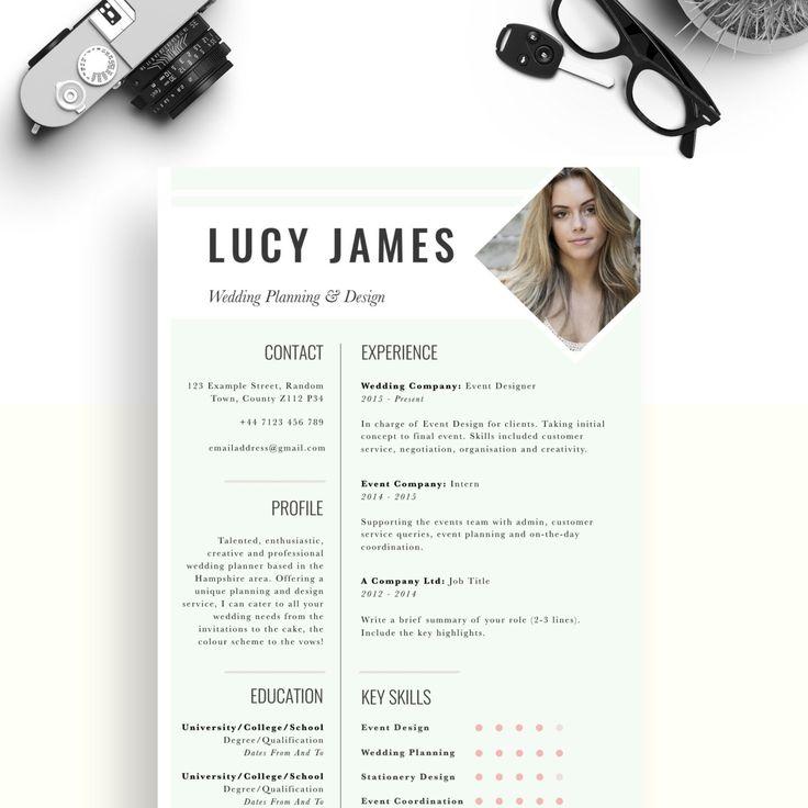 1000+ fikir, Cv Template Uk Pinterestu0027te Cv tasarım, Yaratıcı cv - event planner cover letter