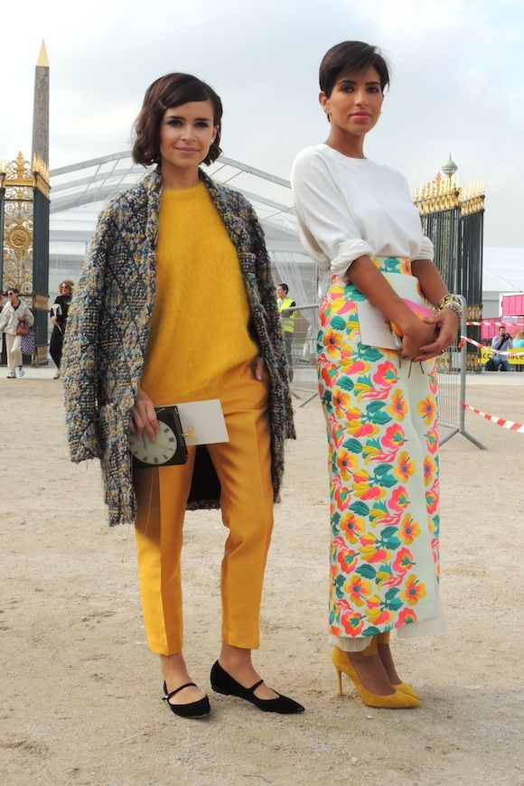 Paris Fashion Week P/É 2014 – Miroslava Duma & Deena Abdulaziz
