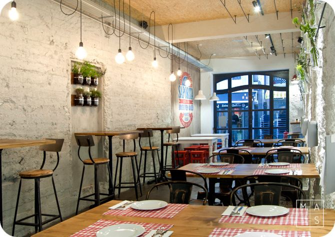 Proyecto de interiorismo por mas arquitectura para la Disenos de interiores para restaurantes