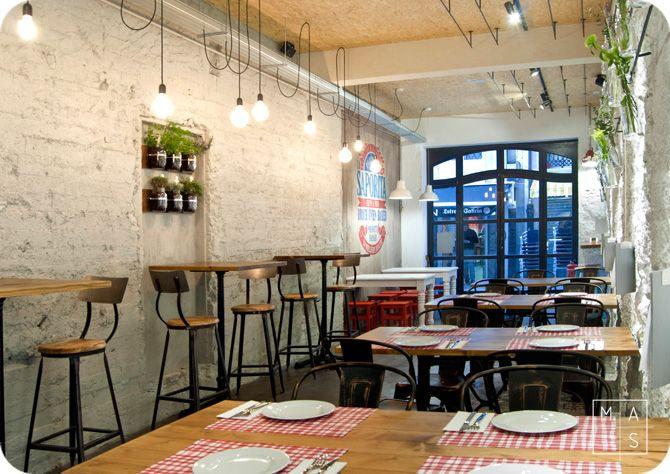 Proyecto de interiorismo por mas arquitectura para la for Restaurante arquitectura