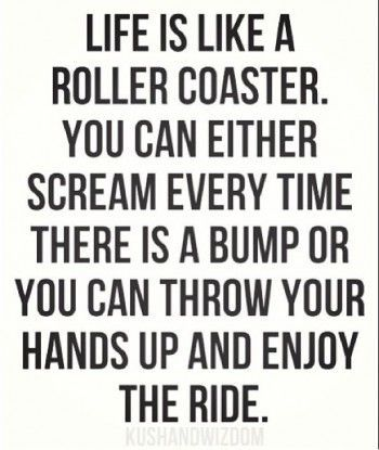 enjoy the ride life - like a middle school principal! Everyday is an adventure!!!
