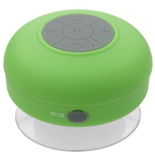 Cheap XCSOURCE? Waterproof Wireless Portable mic Mini Speaker 3W Shower Pool Car Handsfree with Microphone Bluetooth 3.0 for Apple iPhone 4 4S 5 5S 5C S4 iPad iPod MP3 MP4 Tablet PC (New-Green) Best Selling