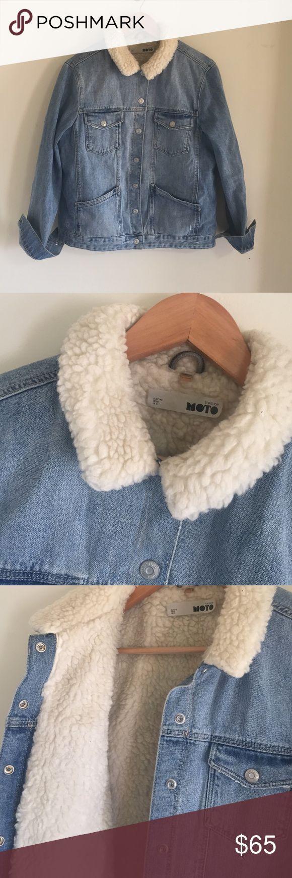 TopShop Fur denim jacket. Moto collection 😎 Great Condition. No fur along sleeves so perfect for layering. Topshop Jackets & Coats