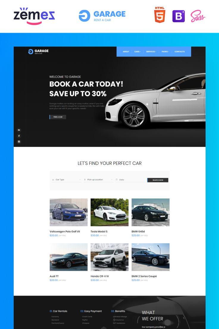 Garage Car Rental Classic Responsive Website Template 85967