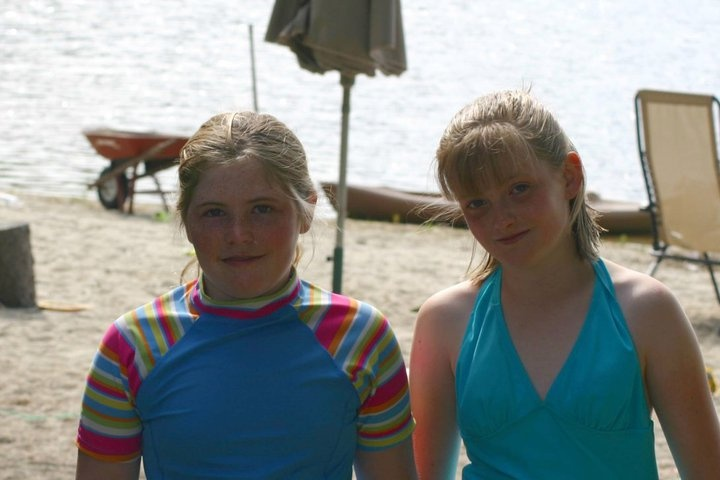 My youngest Grandaughter on right Shannon and friend.