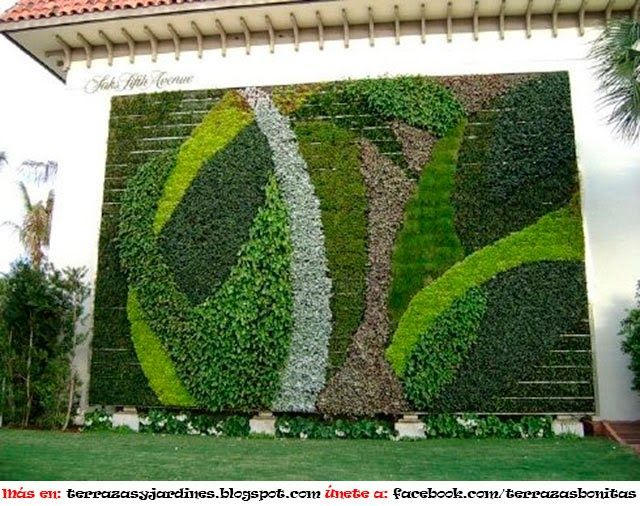 2597 best green wall facade images on pinterest gutter for Plantas para muros verticales