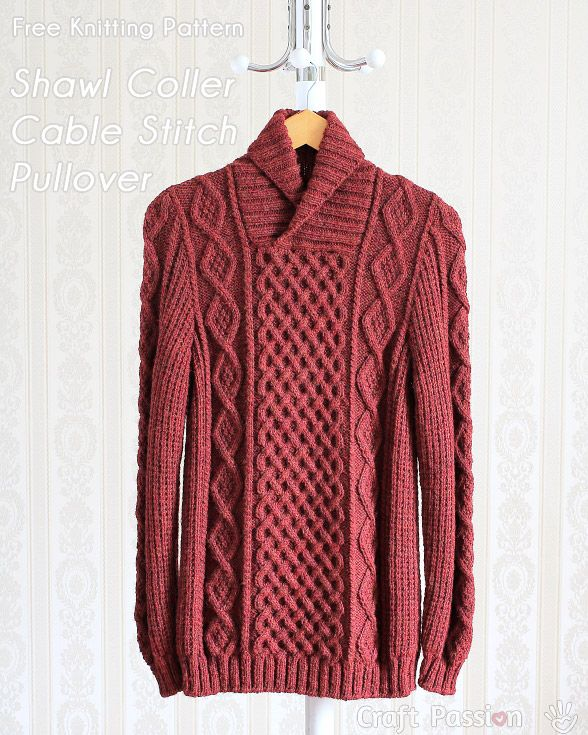 knit pattern cable pullover