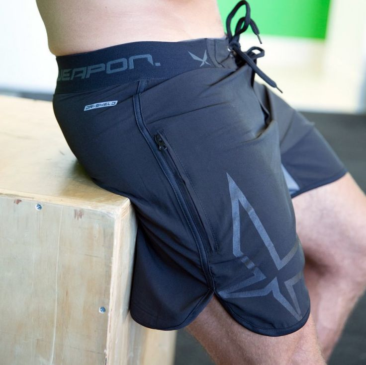 Wear your style discretely in the gym or on the street with the WPN. Stealth Shorts. This minimalist design is made from 4 way stretch Dri-Shield fabric pulling sweat away from the skin, to keep you dry and comfortable. They also feature Weapons Flex Zones - 8 way stretch inserts, lining the inseam for added mobility. Rear elastic waistband and front drawstring allow for custom fit around the waist.