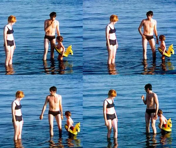 Pic of the Day (Rare!): Paul McCartney, Jane Asher & Julian Lennon @ the beach in the 60s!