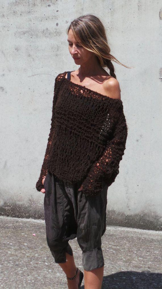 suéter marrón / oscuro ligero marrón chocolate de gran por ileaiye