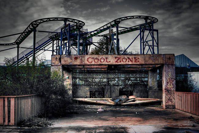Six Flags Jazzland, Nouvelle-Orléans | Ce parc a été abandonné après l'ouragan Katrina. Il est, depuis, utilisé pour des décors de films d'horreur, et on comprend pourquoi.