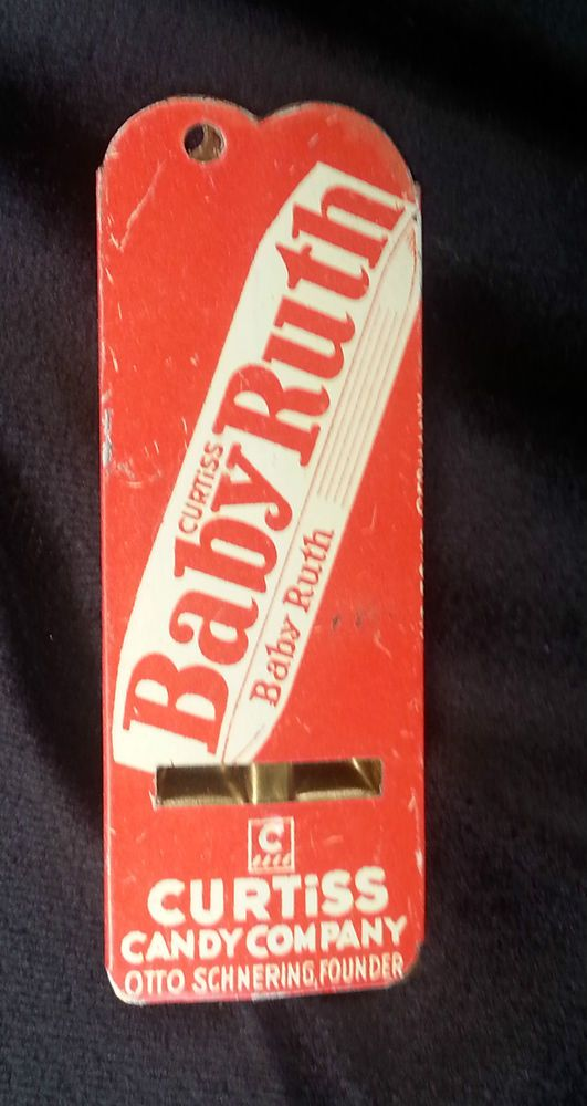 Old AD Tin Litho Whistle BABY RUTH Curtiss Candy Otto ...