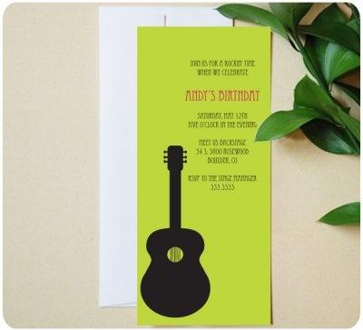 Guitar party invite- cute!