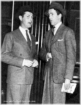 With actor Robert Montgomery.