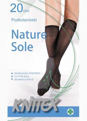 Nature Sole pamuttalpú 20 den térdfix