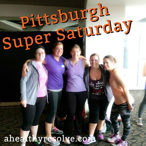 We had so much fun today with my girls at Pittsburgh's Super Saturday! Corporate announcements, training and a fun Live workout! We tested out Shaun T's new Cize workout and it was so much fun! These Beachbody events are not to be missed!