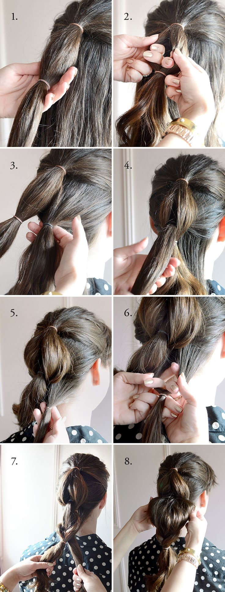 Looped Braid Hair Tutorial | Camille Styles - This is not a braid but looks just as chic and is so easy.