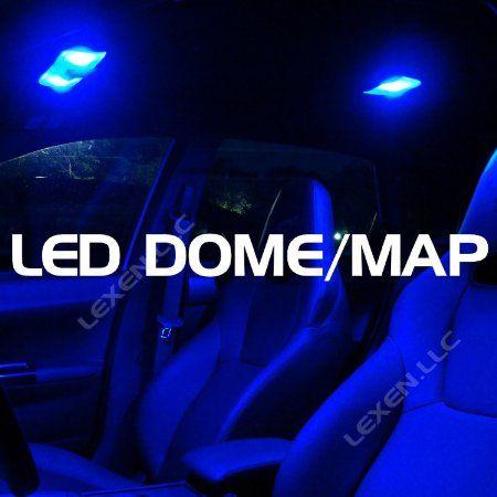 amazoncom led blue 2x dome map interior light bulb 9 smd circle panel