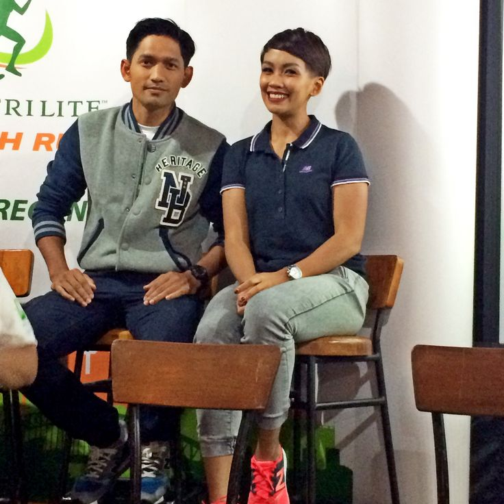 Ibnu Jamil dan Melanie Putria di event Press Conference Nutrilite Health Run 2015