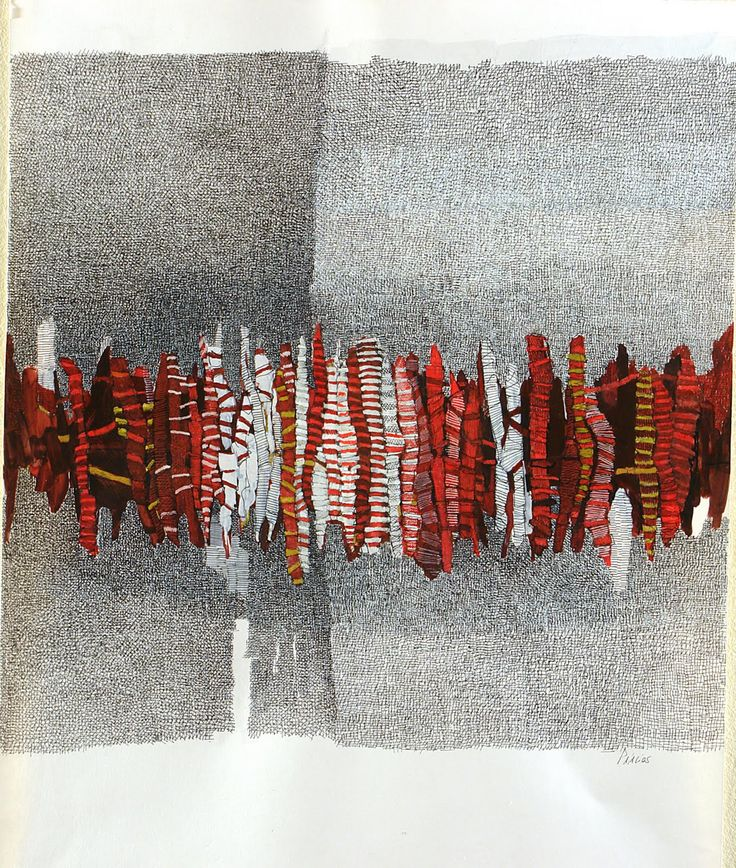 CANDELARIA PALACIOS fibers? paper? what material?