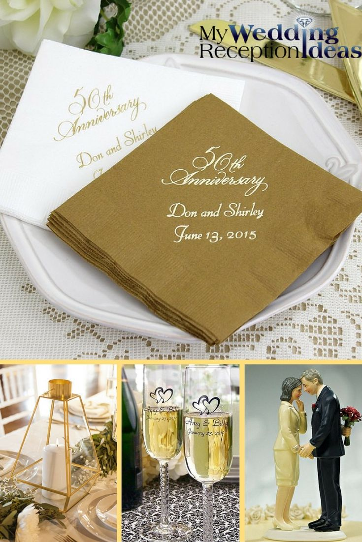 67 best 50th Anniversary Party Ideas images on Pinterest  50th wedding anniversary Golden