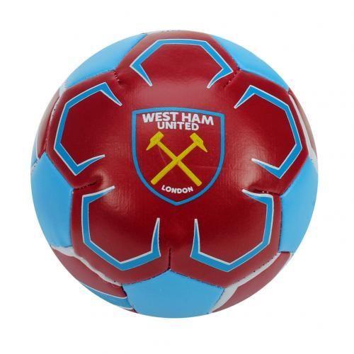 West Ham United F.C. 4 inch Soft Ball s40incwh   $10.95