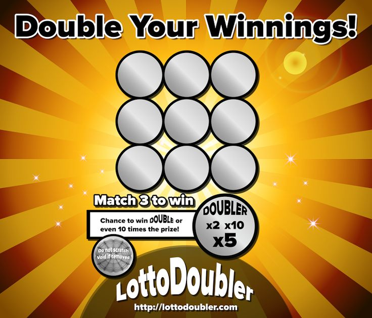 Double Your Winnings! Win up to 10 times! x2, x5, x10 It's all about the doubler! Lotto Doubler instant lottery   Blog http://blog.lottodoubler.com/2015/08/double-your-winnings-its-all-about_8.html   Twitter https://twitter.com/lottodoubler/status/629961198012878849   Facebook https://www.facebook.com/lottodoubler   Website http://lottodoubler.com   #suddenly #millionaire #scratch #scratchtickets #scratchgames #lotto #doubler #double #lottery #lottodoubler #instantlot