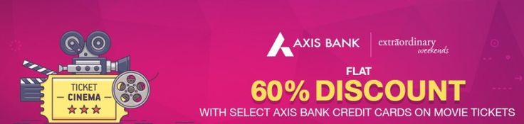 Bookmyshow  Get Flat 60% discount on Booking Sachin movie with Axis Bank Card