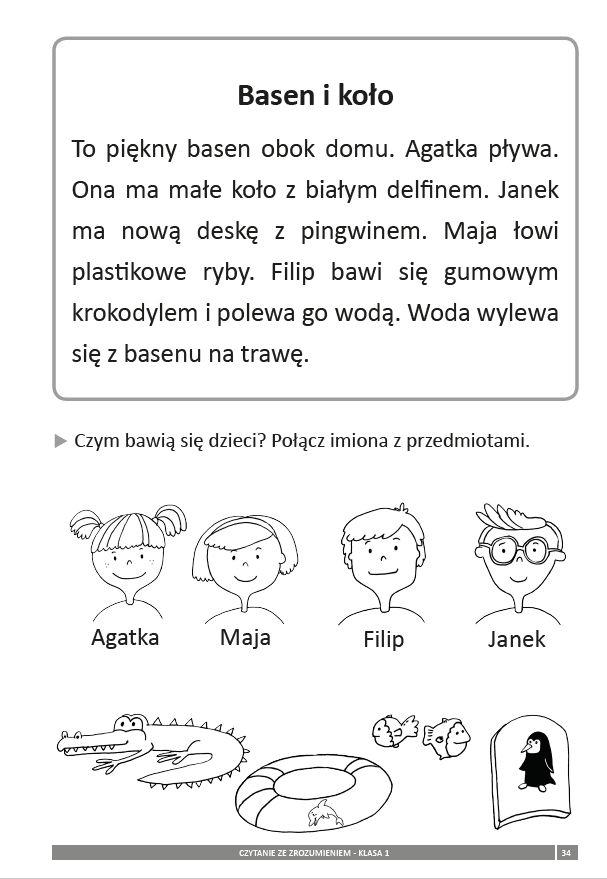 Znalezione obrazy dla zapytania czytanie ze zrozumieniem klasa 1