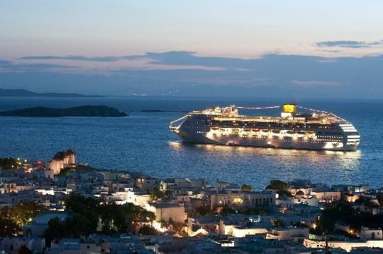 #cruiseship #mykonos #experience
