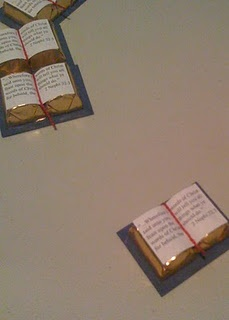 Chocolate Scriptures. A good Sunday School snack for our class. #lds