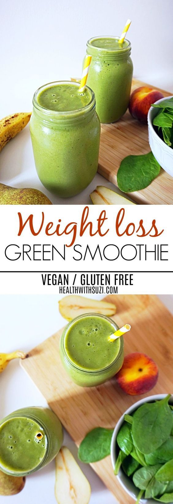 I Love This Green Smoothie!! It's sweet, creamy, filling and loaded with vitamins and minerals! I'm pinning this photo so I can always refer to this recipe anytime! #smoothies #GF #vegan #recipe #clairekcreations