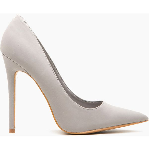 CiCiHot Light Grey Faux Suede Pointy Toe Classic Pumps (£23) ❤ liked on Polyvore featuring shoes, pumps, heels, pointy toe stilettos, stiletto pumps, faux suede pumps, high heels stilettos and heels & pumps