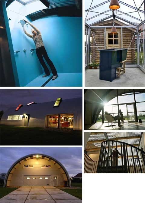 164 best type quonset images on pinterest quonset for Prefab interior arches