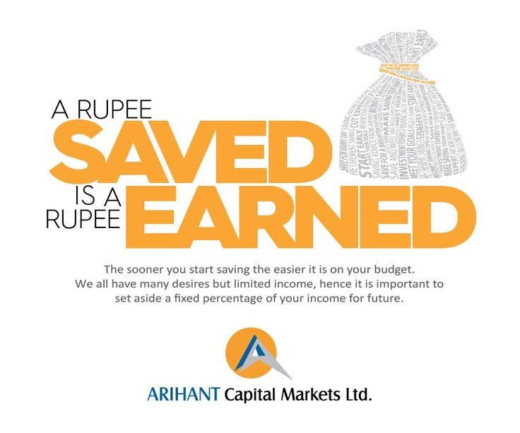 A #rupee saved is a #rupee earned #wealthwisdom